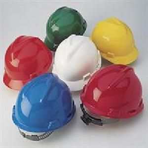 Safety Protection Gear  310105  SLOTTED V-GUARD SAFETY HELMETS WITH STAZ-ON SUSPENSION, RED COLOR