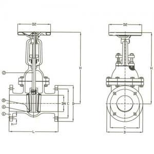 DIN Vanalar  PN 10-16-25  Cast Steel Gate Valve