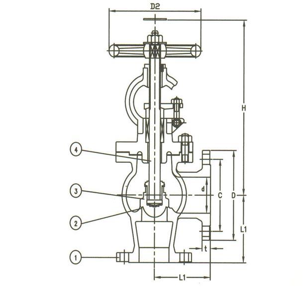 JIS Gemi Vanalarý  F7318  40K Cast Steel Angle Valve