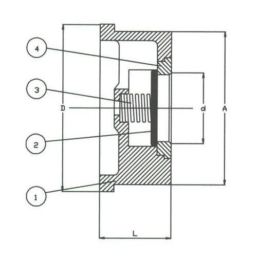 DIN Vanalar    Wafer Disc Check Stainless Steel Valve